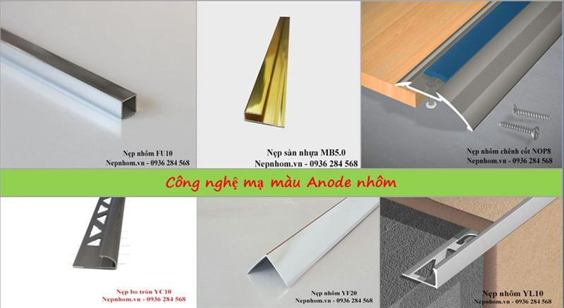 Công nghệ mạ màu Anode ứng dụng trên nẹp nhôm
