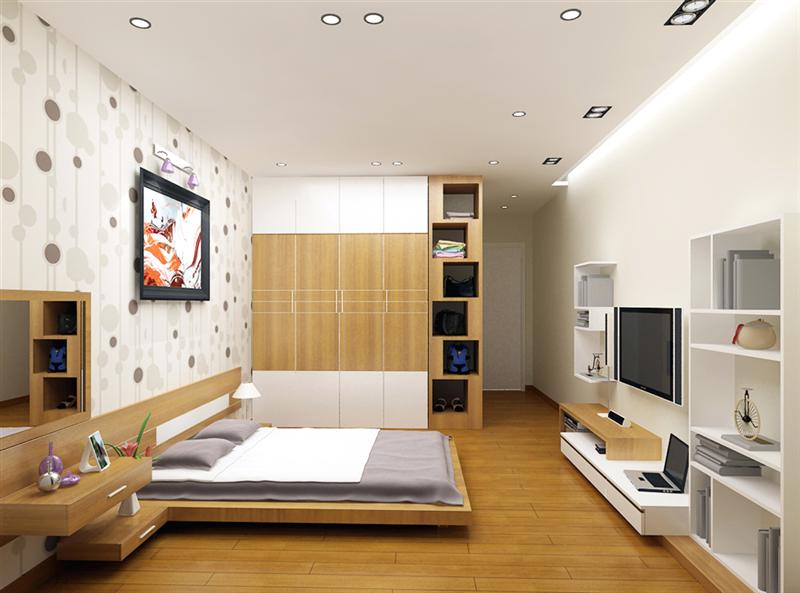Thiết kế căn hộ 1 ngủ đơn giản, đẹp & sang trọng
