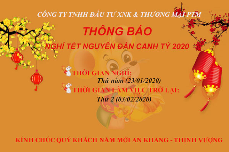 lịch nghỉ tết canh ty 2020