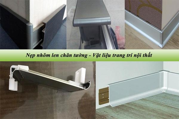 Nẹp nhôm len chân tường – Vật liệu trang trí nội thất