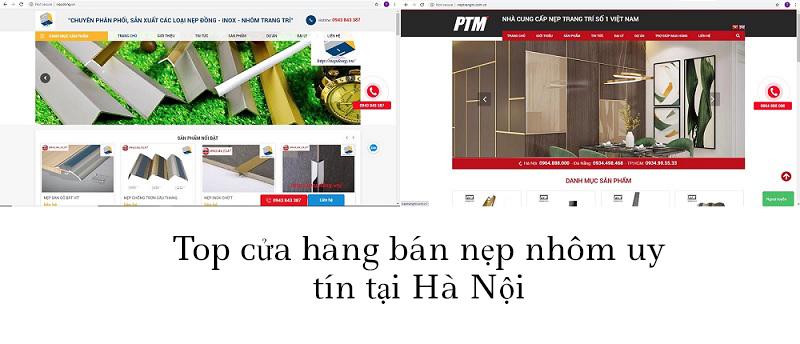 TOP các cửa hàng uy tín bán nẹp nhôm, inox, đồng tại Hà Nội
