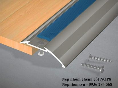 Nẹp nhôm chênh cốt sàn gỗ NOP8.0