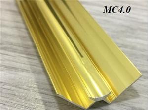 Nẹp nhôm góc âm nối tấm PVC MC4.0